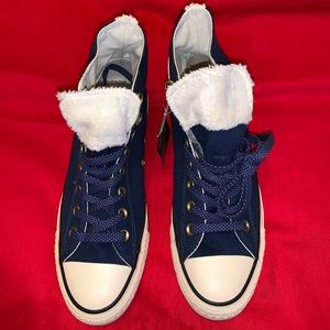 FAUX FUR TRIMMED SNEAKERS